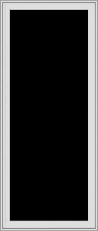 WDMA 28x66 (27.5 x 65.5 inch) White Vinyl uPVC Crank out Casement Window without Grids Exterior