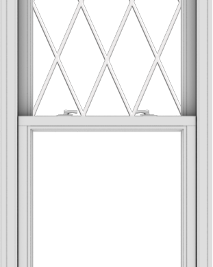 WDMA 28x72 (27.5 x 71.5 inch)  Aluminum Single Double Hung Window with Diamond Grids