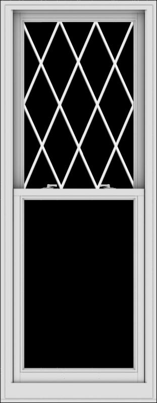 WDMA 28x72 (27.5 x 71.5 inch)  Aluminum Single Double Hung Window with Diamond Grids