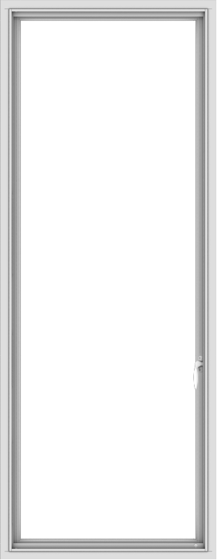 WDMA 28x72 (27.5 x 71.5 inch) White Vinyl uPVC Push out Casement Window without Grids Interior