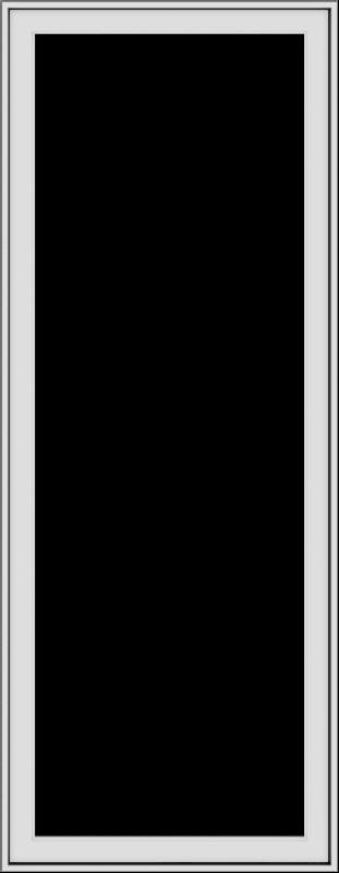 WDMA 28x72 (27.5 x 71.5 inch) White Vinyl uPVC Push out Casement Window without Grids Exterior
