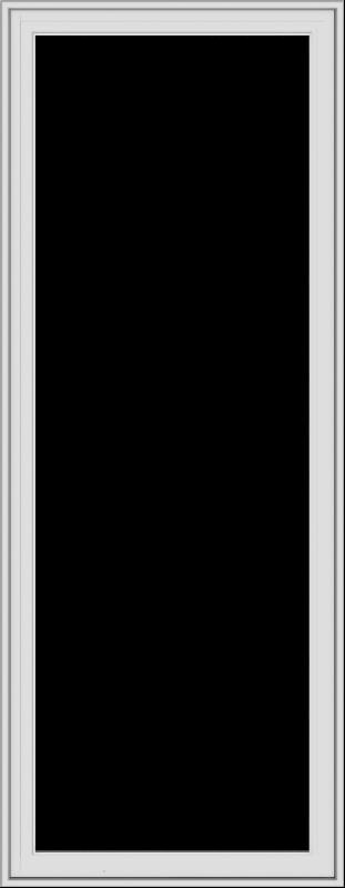 WDMA 28x72 (27.5 x 71.5 inch) White Vinyl uPVC Crank out Casement Window without Grids Exterior