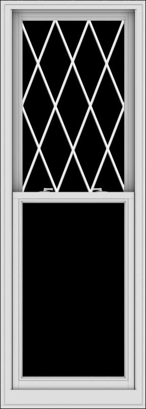 WDMA 28x78 (27.5 x 77.5 inch)  Aluminum Single Double Hung Window with Diamond Grids