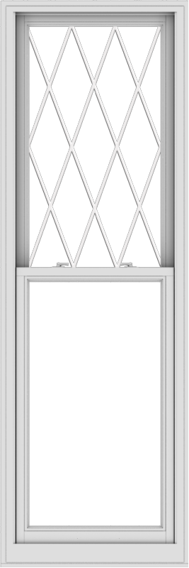 WDMA 28x84 (27.5 x 83.5 inch)  Aluminum Single Double Hung Window with Diamond Grids