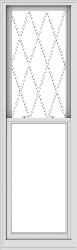WDMA 28x90 (27.5 x 89.5 inch)  Aluminum Single Double Hung Window with Diamond Grids