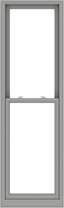WDMA 28x90 (27.5 x 89.5 inch)  Aluminum Single Double Hung Window without Grids-1