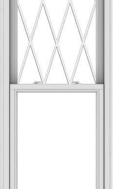 WDMA 28x96 (27.5 x 95.5 inch)  Aluminum Single Double Hung Window with Diamond Grids