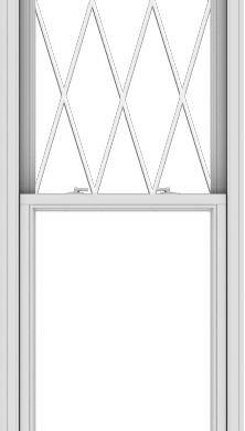 WDMA 30x108 (29.5 x 107.5 inch)  Aluminum Single Double Hung Window with Diamond Grids