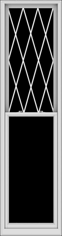 WDMA 30x114 (29.5 x 113.5 inch)  Aluminum Single Double Hung Window with Diamond Grids