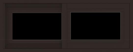WDMA 30x12 (29.5 x 11.5 inch) Vinyl uPVC Dark Brown Slide Window without Grids Exterior