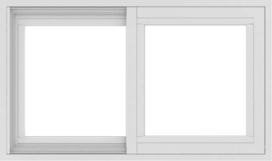 WDMA 30x18 (29.5 x 17.5 inch) Vinyl uPVC White Slide Window without Grids Exterior