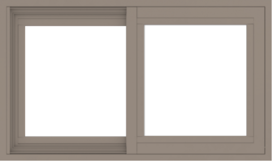 WDMA 30x18 (29.5 x 17.5 inch) Vinyl uPVC Brown Slide Window without Grids Exterior