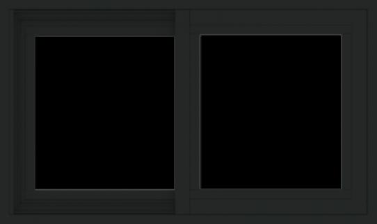 WDMA 30x18 (29.5 x 17.5 inch) Vinyl uPVC Black Slide Window without Grids Exterior