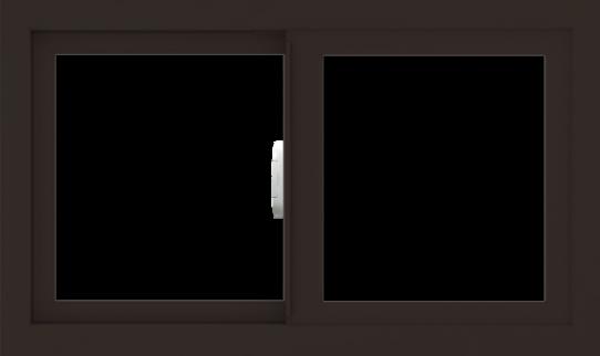 WDMA 30x18 (29.5 x 17.5 inch) Vinyl uPVC Dark Brown Slide Window without Grids Interior