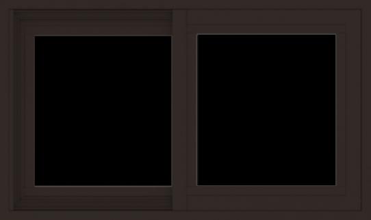 WDMA 30x18 (29.5 x 17.5 inch) Vinyl uPVC Dark Brown Slide Window without Grids Exterior