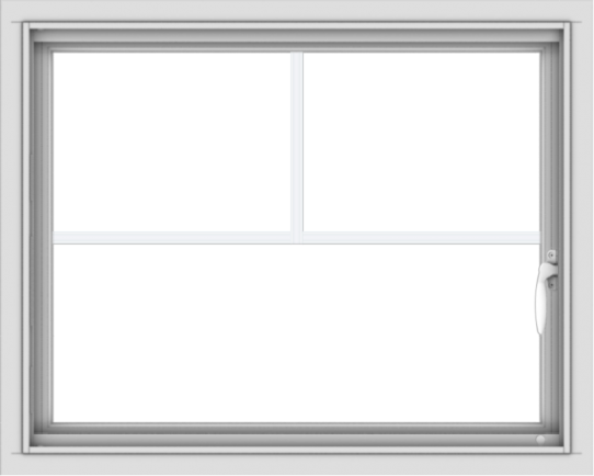 WDMA 30x24 (29.5 x 23.5 inch) Vinyl uPVC White Push out Casement Window with Fractional Grilles