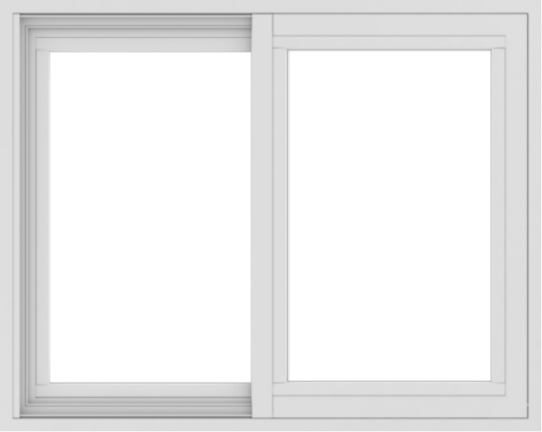 WDMA 30x24 (29.5 x 23.5 inch) Vinyl uPVC White Slide Window without Grids Exterior