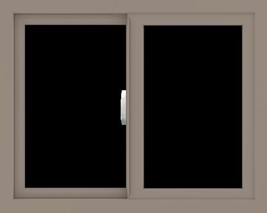 WDMA 30x24 (29.5 x 23.5 inch) Vinyl uPVC Brown Slide Window without Grids Interior