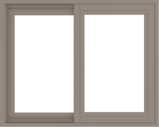 WDMA 30x24 (29.5 x 23.5 inch) Vinyl uPVC Brown Slide Window without Grids Exterior
