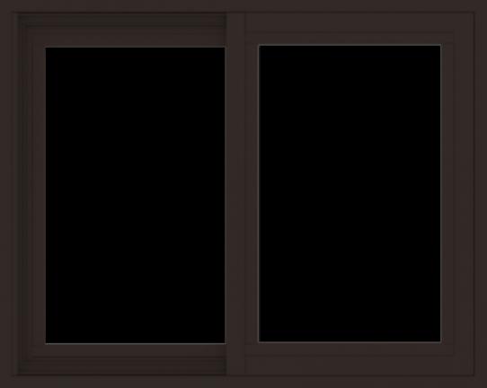 WDMA 30x24 (29.5 x 23.5 inch) Vinyl uPVC Dark Brown Slide Window without Grids Exterior
