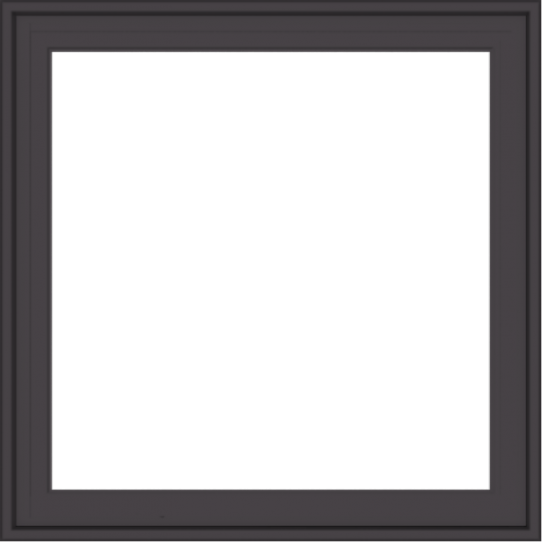 WDMA 30x30 (29.5 x 29.5 inch) Pine Wood Dark Grey Aluminum Crank out Casement Window without Grids Exterior