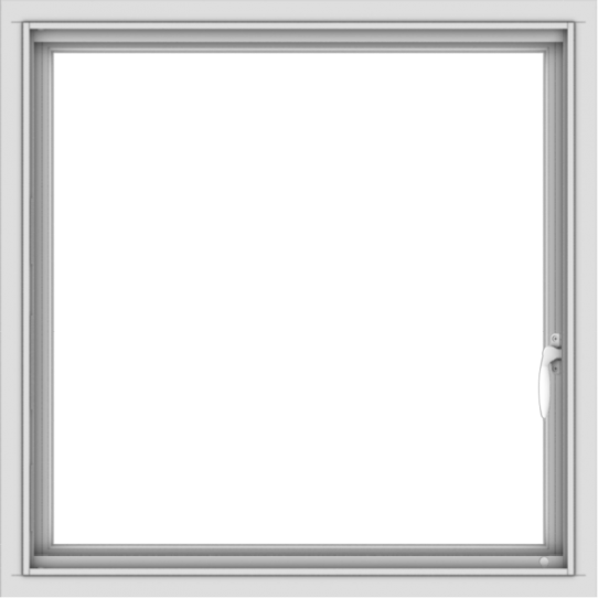 WDMA 30x30 (29.5x29.5 inch) Vinyl uPVC White Push out Casement Window without Grids Interior