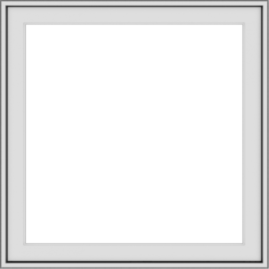 WDMA 30x30 (29.5 x 29.5 inch) Vinyl uPVC White Push out Casement Window without Grids Exterior