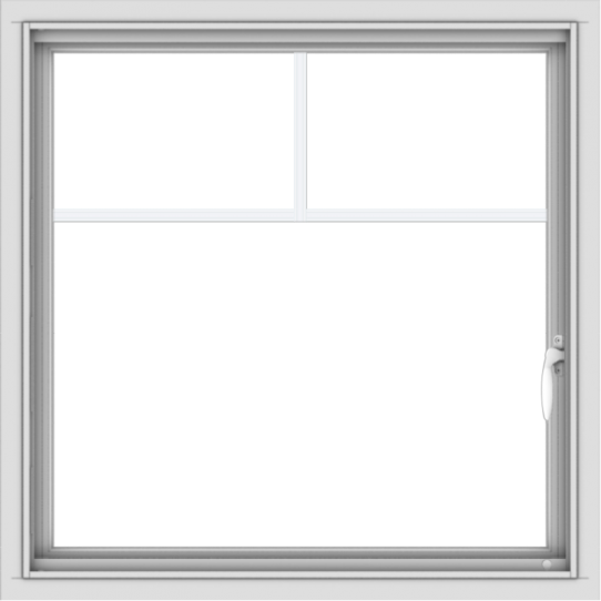 WDMA 30x30 (29.5 x 29.5 inch) Vinyl uPVC White Push out Casement Window with Fractional Grilles