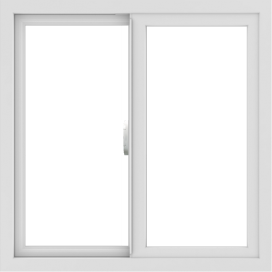 WDMA 30x30 (29.5 x 29.5 inch) Vinyl uPVC White Slide Window without Grids Interior