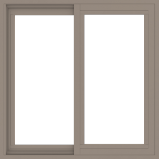 WDMA 30x30 (29.5 x 29.5 inch) Vinyl uPVC Brown Slide Window without Grids Exterior