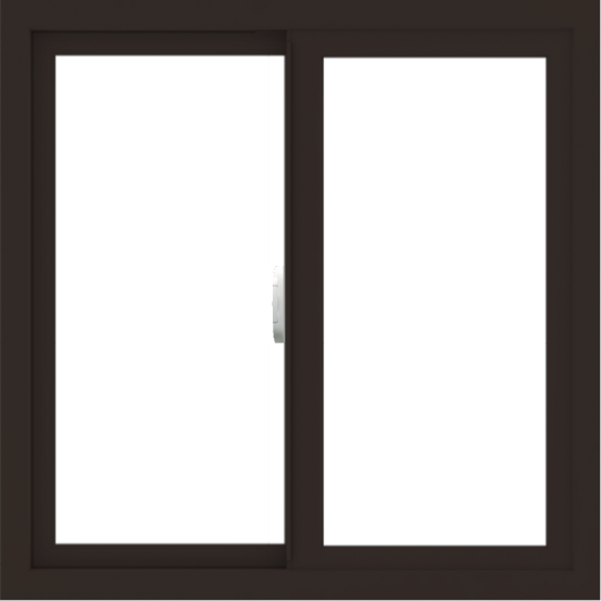WDMA 30x30 (29.5 x 29.5 inch) Vinyl uPVC Dark Brown Slide Window without Grids Interior