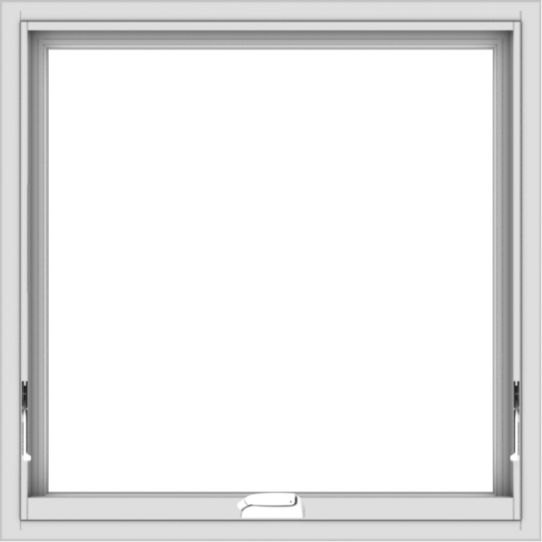 WDMA 30x30 (29.5 x 29.5 inch) White Vinyl uPVC Crank out Awning Window without Grids