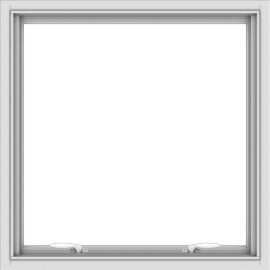 WDMA 30x30 (29.5 x 29.5 inch) White uPVC Vinyl Push out Awning Window without Grids
