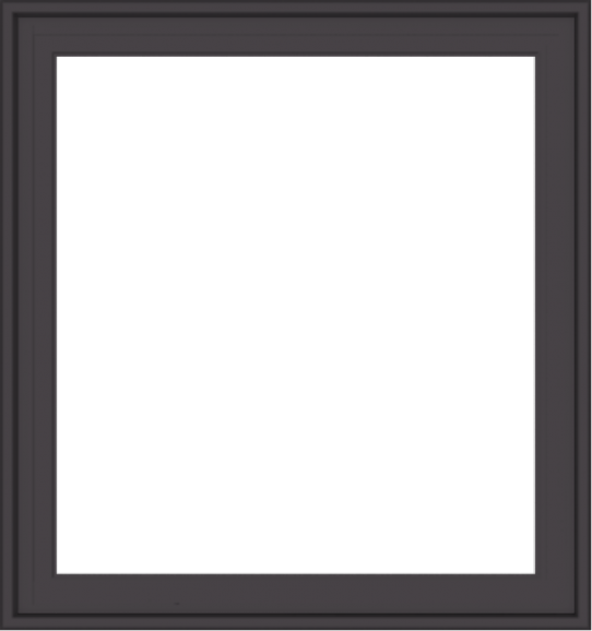 WDMA 30x32 (29.5 x 31.5 inch) Pine Wood Dark Grey Aluminum Crank out Casement Window without Grids Exterior