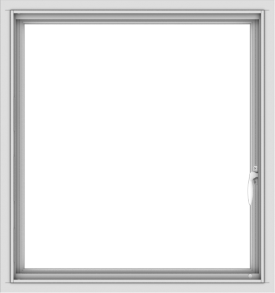 WDMA 30x32 (29.5 x 31.5 inch) Vinyl uPVC White Push out Casement Window without Grids Interior