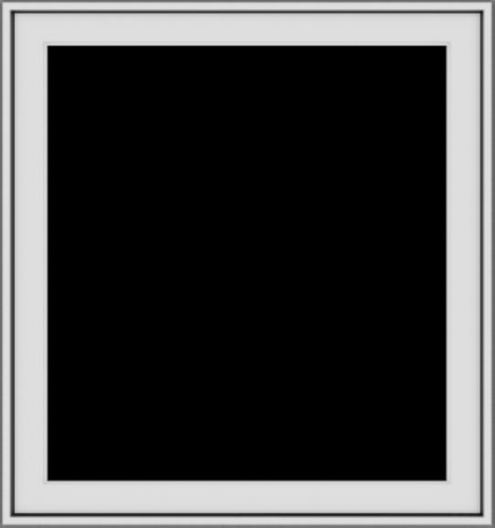 WDMA 30x32 (29.5 x 31.5 inch) Vinyl uPVC White Push out Casement Window without Grids Exterior
