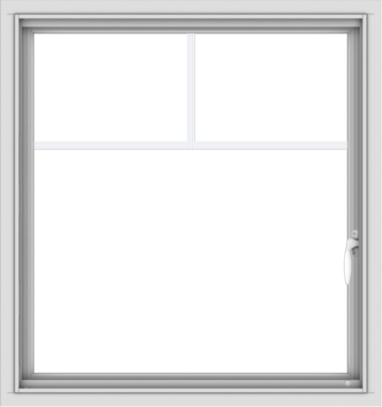 WDMA 30x32 (29.5 x 31.5 inch) Vinyl uPVC White Push out Casement Window with Fractional Grilles