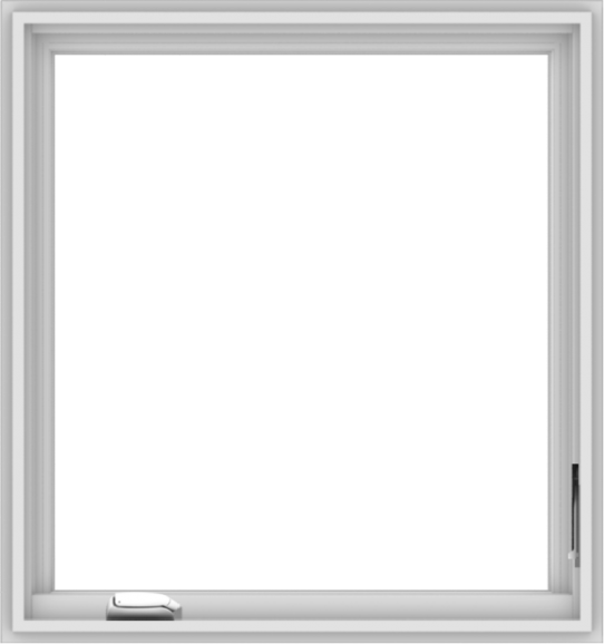 WDMA 30x32 (29.5 x 31.5 inch) White Vinyl uPVC Crank out Casement Window without Grids Interior