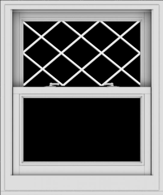 WDMA 30x36 (29.5 x 35.5 inch)  Aluminum Single Double Hung Window with Diamond Grids