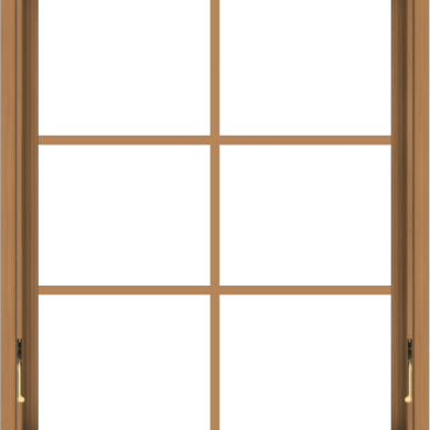 WDMA 30x36 (29.5 x 35.5 inch) Oak Wood Dark Brown Bronze Aluminum Crank out Awning Window with Colonial Grids Interior
