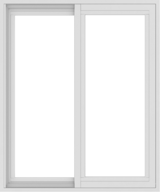 WDMA 30x36 (29.5 x 35.5 inch) Vinyl uPVC White Slide Window without Grids Exterior