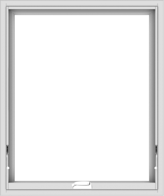 WDMA 30x36 (29.5 x 35.5 inch) White Vinyl uPVC Crank out Awning Window without Grids