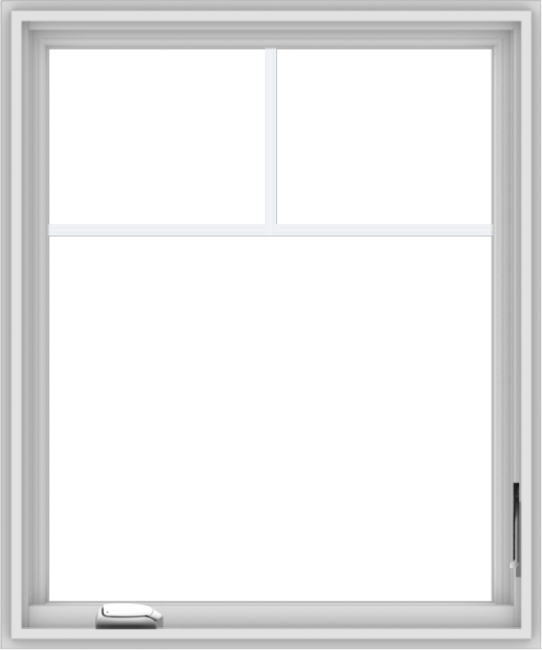 WDMA 30x36 (29.5 x 35.5 inch) White Vinyl uPVC Crank out Casement Window with Fractional Grilles