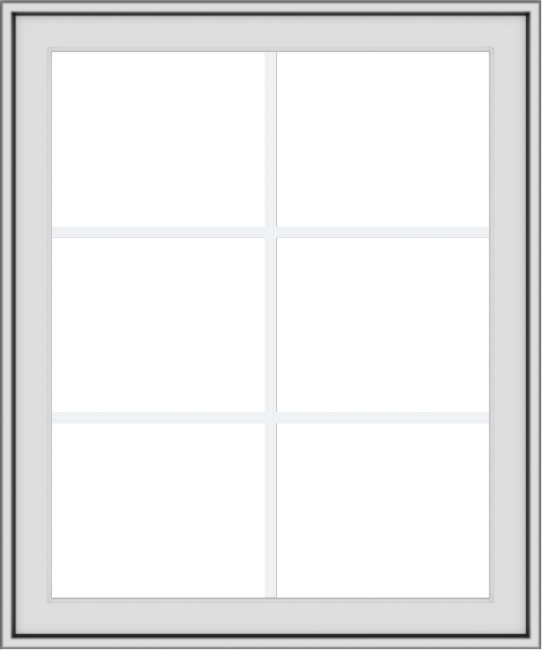 WDMA 30x36 (29.5 x 35.5 inch) White uPVC Vinyl Push out Awning Window with Colonial Grids Exterior