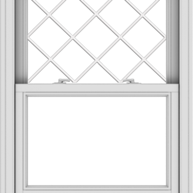 WDMA 30x40 (29.5 x 39.5 inch)  Aluminum Single Double Hung Window with Diamond Grids
