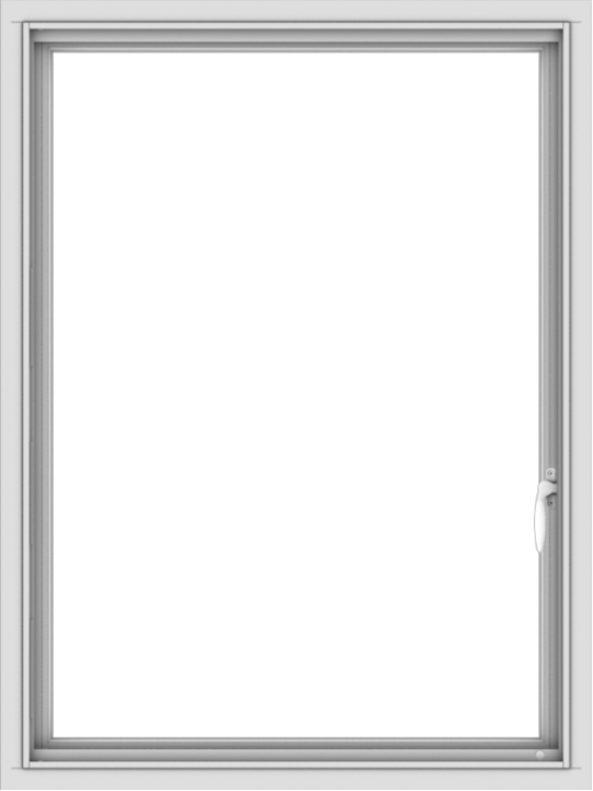 WDMA 30x40 (29.5 x 39.5 inch) Vinyl uPVC White Push out Casement Window without Grids Interior