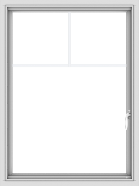 WDMA 30x40 (29.5 x 39.5 inch) Vinyl uPVC White Push out Casement Window with Fractional Grilles