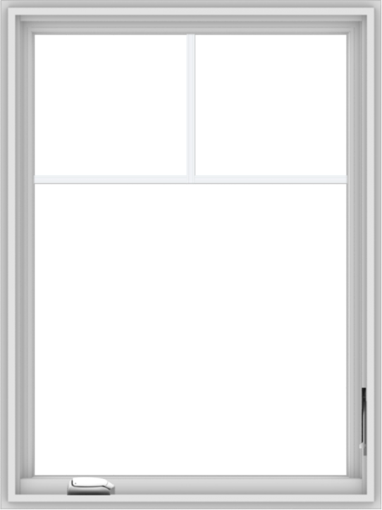 WDMA 30x40 (29.5 x 39.5 inch) White Vinyl uPVC Crank out Casement Window with Fractional Grilles