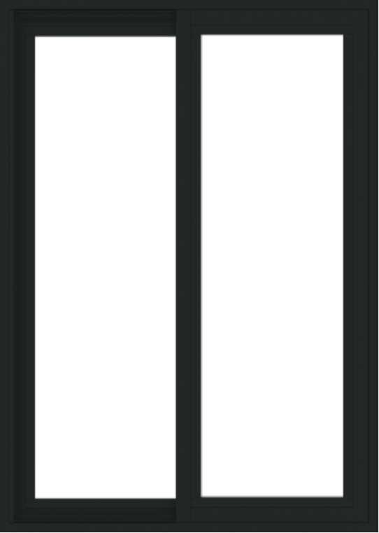 WDMA 30x42 (29.5 x 41.5 inch) Vinyl uPVC Black Slide Window without Grids Exterior