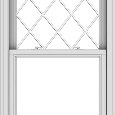 WDMA 30x48 (29.5 x 47.5 inch)  Aluminum Single Double Hung Window with Diamond Grids